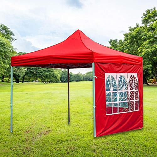 mooderff 3 X 3 m Garden Gazebo Marquee Tent with Side Panels, Gazebo Party Tent with Sides for Outdoor, Camping, Home Courtyard, Balcony (Without Bracket)