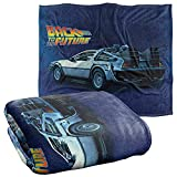 Back to The Future Delorean Officially Licensed Silky Touch Super Soft Throw Blanket 50' x 60'