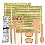 Juego de Sushi de Bambú Kit de Fabricación de Sushi Preparar Sushi Fácilmente...