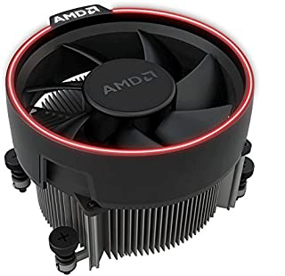 AMD Wraith Spire Socket AM4 4-Pin Connector CPU Cooler With Copper Core Base & Aluminum Heatsink & 3.81-Inch Fan RGB LED Light fr Ryzen R7