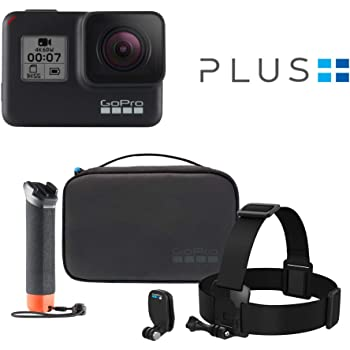 GoPro HERO7 Black — Waterproof Digital Action Camera with Accessory Adventure Kit and GoPro Plus