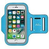 MoKo Brazalete Deportivo para iPhone X / 8 Plus / 7 Plus/Samsung Galaxy S9 Plus / S8 Plus - Resistente al Agua/Sudor, Auricular Conexión Durante Ejercicio y Corriendo, Azul Claro