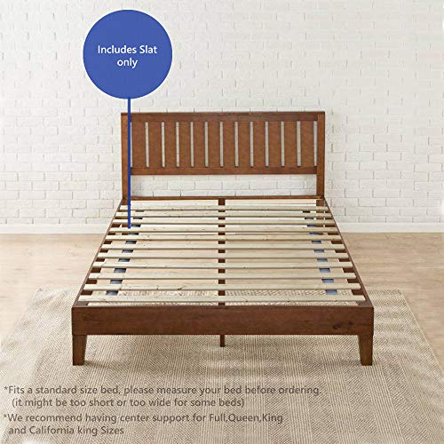 Continental Matress 1.5-Inch Standard Mattress Support Wooden Bunkie Board/Slats, Twin, Beige