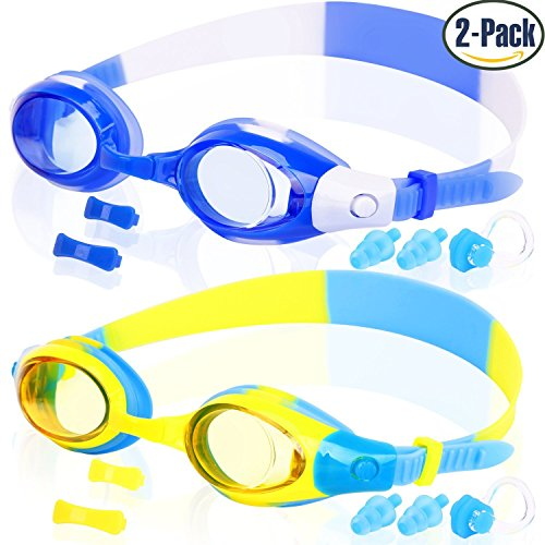 COOLOO 2-PACK Kids Swimming Goggles