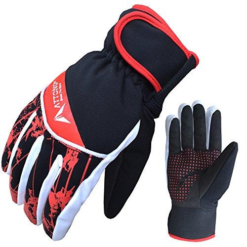 ATTONO Skihandschuhe Ski Langlauf Snowboard Handschuhe warme Langlaufhandschuhe - Größe 8/M