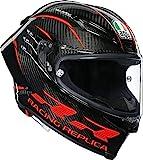 AGV Pista GP RR Performance Adult Street Motorcycle Helmet - Gloss Carbon Black/Red/Medium/Large