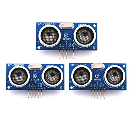 HiLetgo 3個セット HY-SRF05超音波距離センサモジュール測定センサモジュール Arduinoに互換 [並行輸入品]