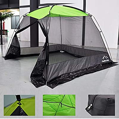 CAMPMORE Screen House Tent Mesh Screen Room Canopy Sun Shelter for Backyard Camping Outdoor Kitchen,10 x 10 Feet