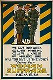 Woman Suffrage Vintage World War One WW1 WWI USA Military Propaganda Poster
