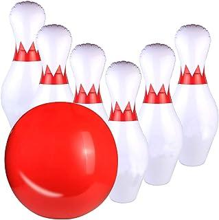 Fajiabao Juego de Bolos Infantiles Inflable Juguete Bowling Set para Niños y Adultos Gigantes Bolera de Juguete Juegos Educativos Regalos Navidad Adecuado para Jardín Interior Exterior