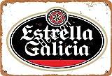 Henson Estrella Galicia Beer Vintage Tin Sign Logo 12 * 8 Inches Advertising Eye-Catching Wall Decoration