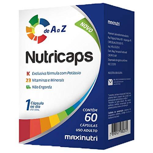 Nutricaps A-Z (Polivitamínico) 100% IDR 250mg - 60 Cáps, Maxinutri