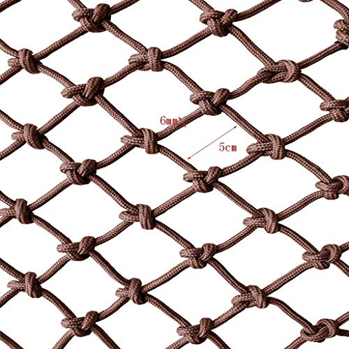 ZHUYUE Balkon Safety Net, nylon touw netto Barrier Net Stair Shatter-resistente Net Kindergarten Decoration Net Playground Fence Net hand geweven Net Trampoline Rope Net kan worden gesneden 1M-10M Bro