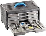 AGT Werkzeug Box: Werkzeugset im Koffer WZK-1005.s, 100-teilig (Werkzeug Sortimentskästen)