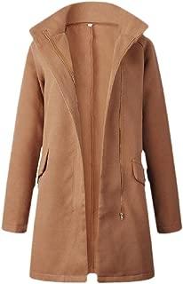 Womens Wool Overcoat Full Zip Wool Blend Pea Coat