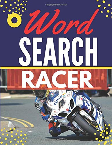 Racer Word Search: Themed Activity Puzzle Book|Large Print Challenging activity book Puzzles For Adults Men ,women And Seniors & Teens With Soulitions .