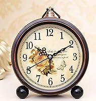 ZKAIAI 卓上 目覚まし時計の伝統的な目覚まし時計マイヤーサイレント目覚まし時計クリエイティブ学生子供小さな目覚まし時計のアラーム表欧州のリビングルームのベッドの電子時計時計 静か 連続秒針