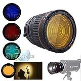 FidgetFidget Nanguang NG-10X Fresnel Lens Bowens Mount for Studio Speedlite + 4 Colors Filter