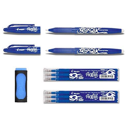 Pilot Frixion Tintenroller mit Radierer (Blau)