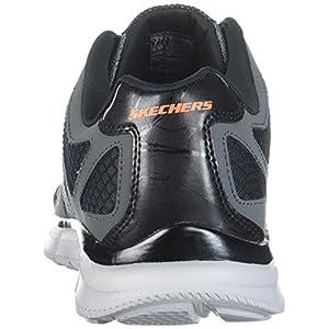 Skechers Sport Men's Verse Flashpoint Oxford,charcoal/orange,12 2E US