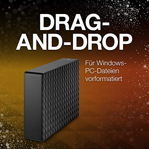 Seagate Expansion Desktop, externe Festplatte 10 TB, 3.5 Zoll, USB 3.0, PC, Notebook, Xbox & PS4, inkl. 2 Jahre Rescue Service, Modellnr.: STEB10000400