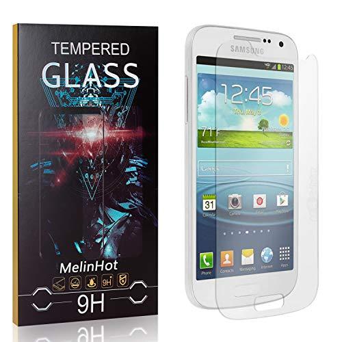 Displayschutzfolie für Galaxy S4 Mini, MelinHot Blasenfrei Schutzfilm aus Gehärtetem Glas für Samsung Galaxy S4 Mini, 9H Härte, Kratzfest, 99% Transparenz, 4 Stück