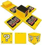 Funda para Tarjetas Nintendo Switch, Estuche de Tarjetas de Cubo Deformable, para Protección Tarjetas de Memoria con 16 Ranuras, Organizador de Tarjeta para Hogar y Viaje (Interrogación)