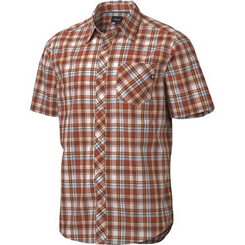 Marmot Herren Kurzarm Hemd Cottonwood, Red Ochre, S
