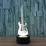 Kreative 3D-Tischlampe Musikgitarre LED Farbwechsel Nachtlicht Weihnachtsgeschenk