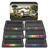 Ccfoud 180 Colored Pencils, 4.00mm Professional Grade Rich Pigment Soft Core, Coloring Pencils Suitable for Children, Adults, Artists Coloring Sketching and Painting (Metal Box)
