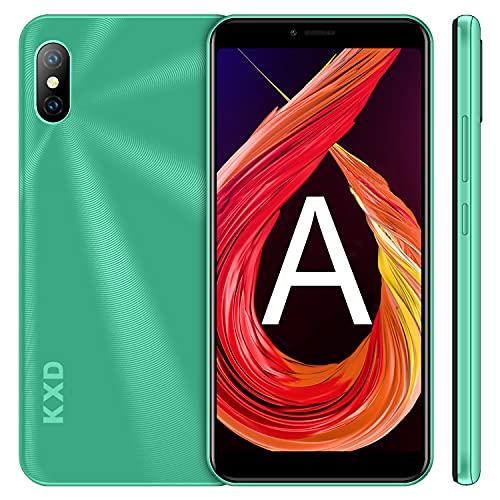 Téléphone Portable Débloqué KXD 6A Ecran 5.5 Pouces, Android 8.1, Smartphone Débloqué Pas Cher 3G Dual SIM, Caméra 5MP+2MP, 1Go RAM+8Go ROM, Batterie 2500mAh, Face ID, GPS - vert