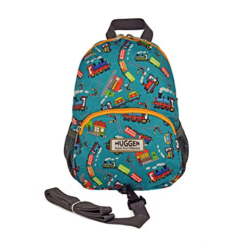 Hugger Totty Tripper little kids and Toddler Backpack with Anti-lost Harness Strap (Choo Choo)