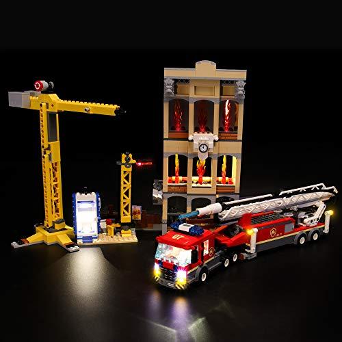 LIGHTAILING Conjunto de Luces (City Fire Brigada Distrito Centro) Modelo de Construcción de Bloques - Kit de luz LED Compatible con Lego 60216 (NO Incluido en el Modelo)