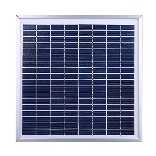 Weehey Ventilador Solar de Invernadero Ventilador de ático Solar Ventilación de Invernadero Ventilador Solar de ático Ventilador de circulación de Aire Solar Ventilador termostático Solar