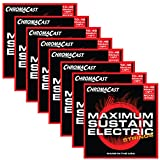ChromaCast CC-GS-MS-ML-8PACK Maximum Sustain Medium-Light Electric Guitar Strings.010-.046, 8-Pack