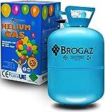 BROGAZ Helium Heliumflasche Ballongas Folienballons Luftballons Gas Party ca. 30 Ballons