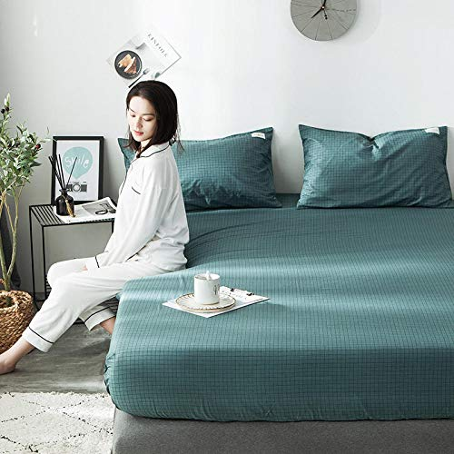 haiba Protector de colchón extra profundo de algodón, tamaño superking, calidad de hotel, comodidad y protección, 120 x 200 cm + 25 cm