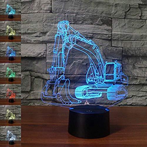 Jinson well 3D bagger Gabelstapler Nachtlicht Lampe optische Nacht licht Illusion 7 Farbwechsel Touch Switch Tisch Schreibtisch Dekoration Lampen perfekte Weihnachtsgeschenk mit Acryl USB Spielzeug