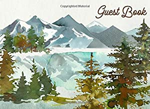 Guest Book: Watercolor Forest (108 Pages) - Perfect for Wedding, Shower, Housewarming, Rental, Retirement, Funeral, Memorial