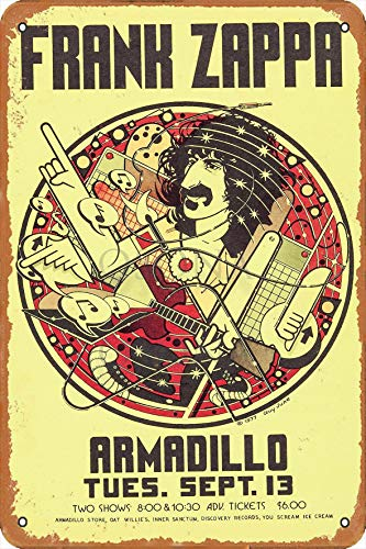 OSONA Frank Zappa Armadillo Retro Nostalgische Kunst Traditionelle Rostfarbe Zinn Logo Werbung Markante Wanddekoration Geschenk