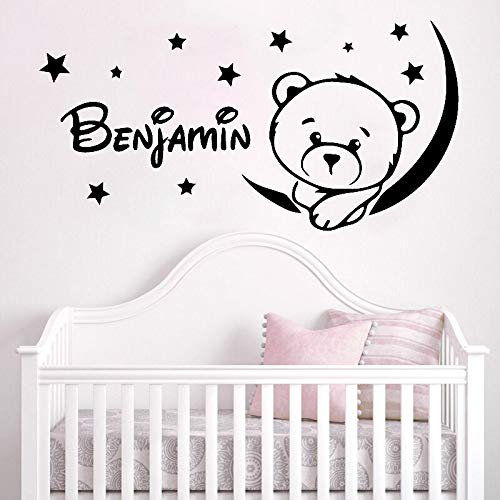 JXFM DIY Kids Room Wall Sticker Moon Star Vinyl Decal Baby Bedroom Decoration Personality Art Deco Mural Custom Color or Size
