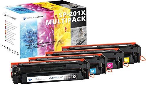 4 Schneider Printware Toner | 50 Prozent mehr Druckleistung | kompatibel zu HP 201X 201A CF400X CF401X CF402X CF403X für HP Color Laserjet Pro MFP M277dw M277n M274n M252dw