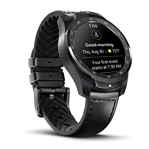 Ticwatch PRO Smartwatch 1 GB RAM, NFC, 24H heart rate, GPS IP68, Sleep Monitoring, Microphone, Loudspeaker, Music, Call via Bluetooth, Compatible with Android and iOS