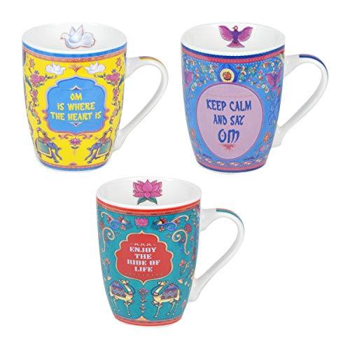 Decor And Go Mug Frase Con Caja Regalo Sigris Incluye 3 Unidades Cocina Mugs Y Vasos Colección India