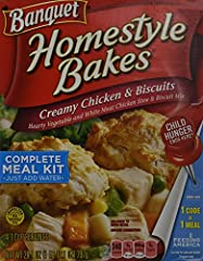 Banquet Homestyle Bakes Creamy Chicken & Biscuits 28.1oz Box Pack of 3