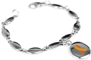 Custom Engraved Orange MS Awareness Bracelet - 316L Steel