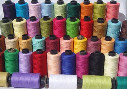 Baumwollgarn, große Spulen, 50 x, 100 % reine Premium-Qualität, 457,2 m, Allzweckfaden, 50 Farben