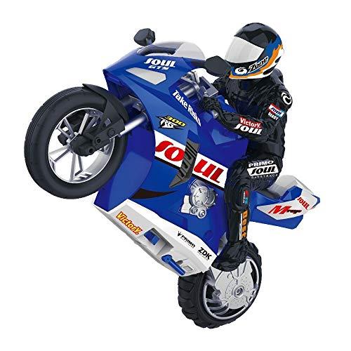 Gigicloud Ferngesteuertes Motorrad HC-802 1: 6 RC Motorrad Selbstausgeglichen Stunt-Motorrad mit Fernsteuerung Motorrad Spielzeug Geschenk,Blue