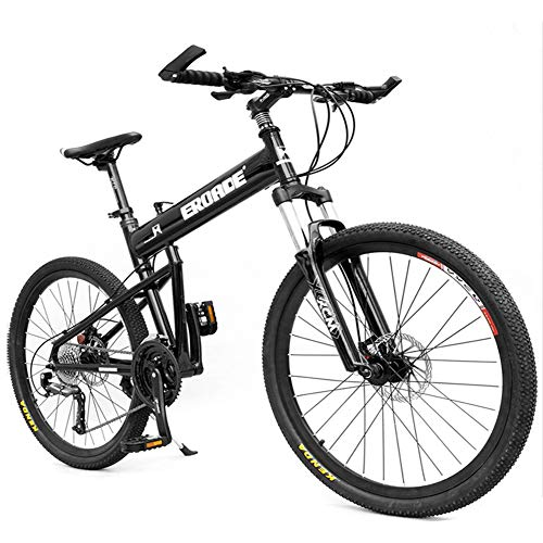 NENGGE Adulto Bicicleta Montaña Profesional Hard Tail Bicicleta Plegable, Ligero Bicicleta BTT para Hombre Mujer, Frenos de Disco Hidraulicos & Cuadro Aleación de Aluminio,Negro,30 Speed 26 Inch