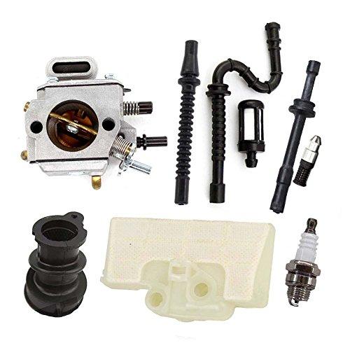 AISEN Vergaser Für Stihl MS290 MS310 MS390 029 039 mit Luftfilter Ansaugstutzen Benzin Öl Schlauch Filter Kit